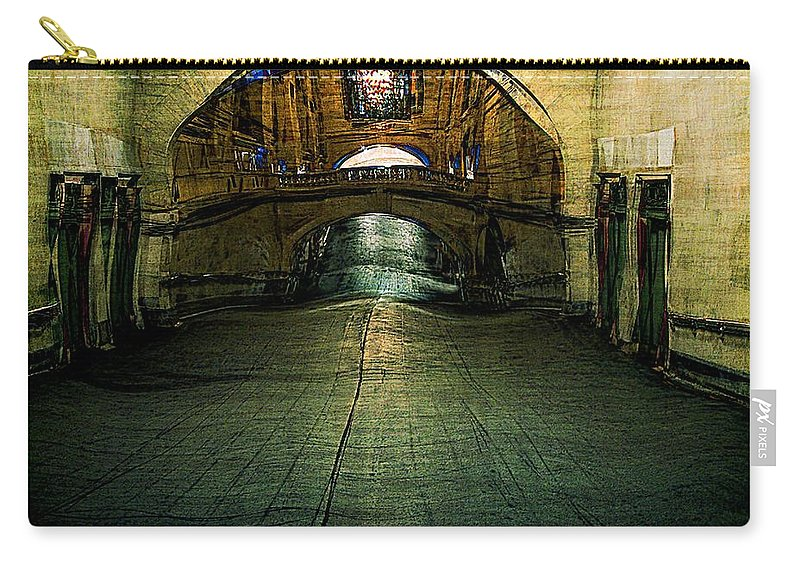 Archway Carry-all Pouch featuring the painting Slouching Towards Bethlehem by RC deWinter