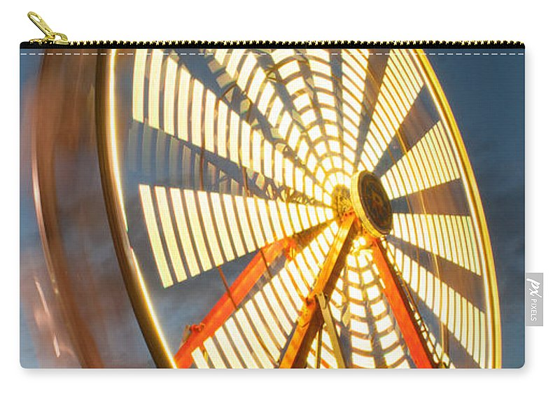 Kimberton Fair Carry-all Pouch featuring the photograph Slow Down The Ferris Wheel by Michael Porchik