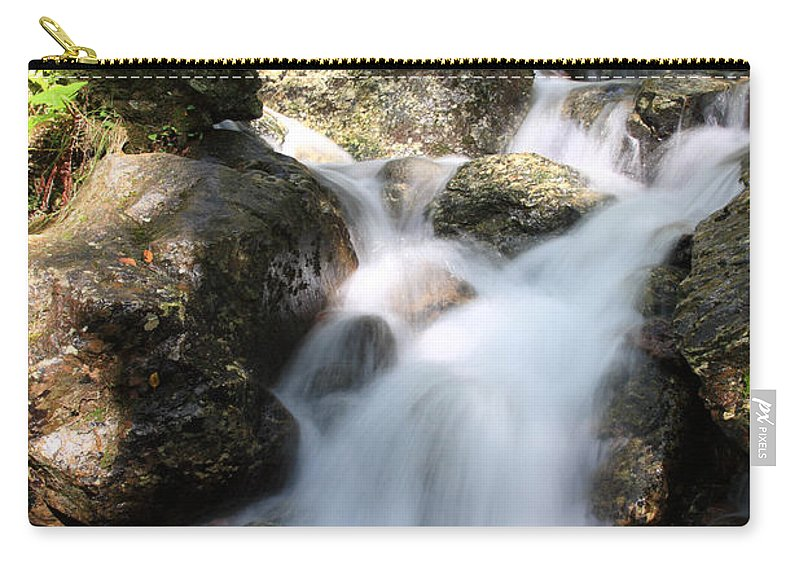 Countryside Carry-all Pouch featuring the photograph Slow Shutter Waterfall Scotland by Deborah Benbrook