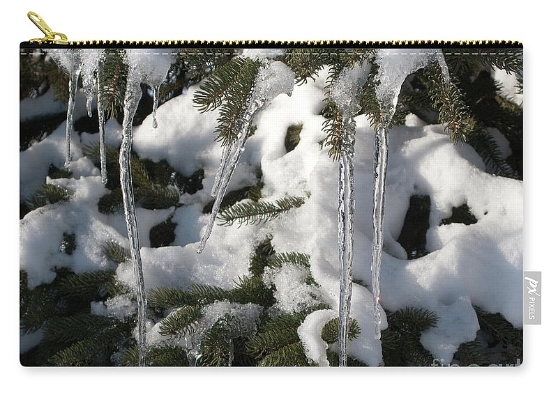 Winter Carry-all Pouch featuring the photograph Slow Snow Melt by Ann Horn
