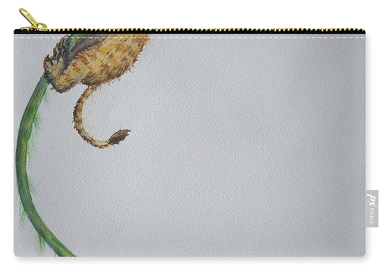 Lion Carry-all Pouch featuring the painting Slowly The Vine Began To Rip by Sheena Kohlmeyer