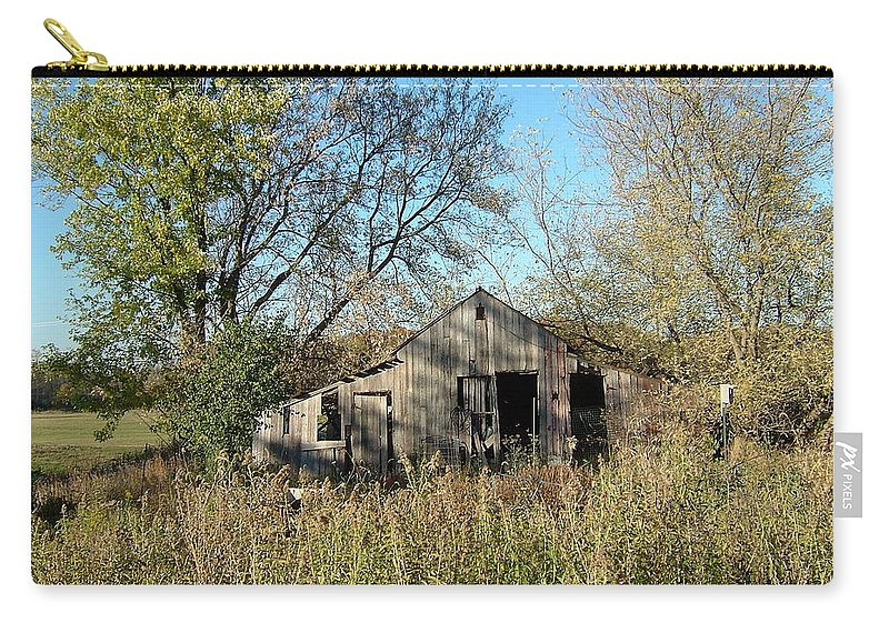 Abandoned Carry-all Pouch featuring the photograph Small Abandoned Shed by Susan Wyman