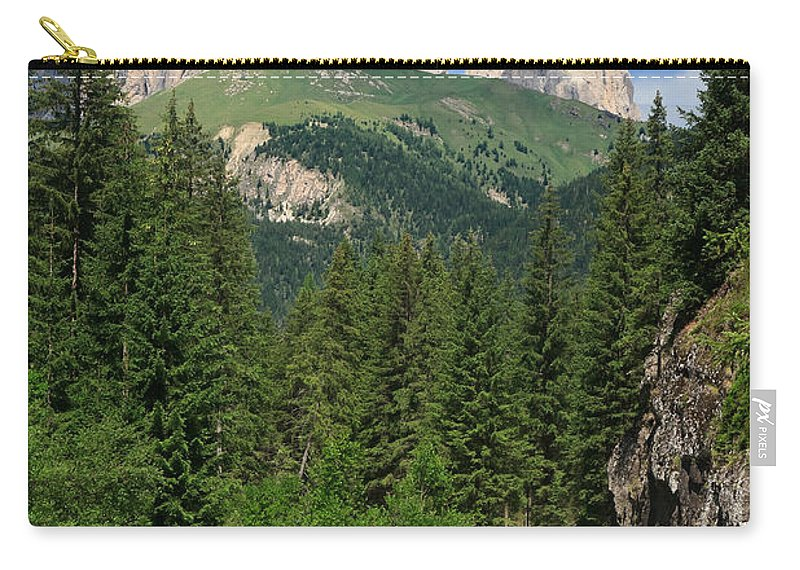 Alpine Carry-all Pouch featuring the photograph Small Road Along The River by Antonio Scarpi