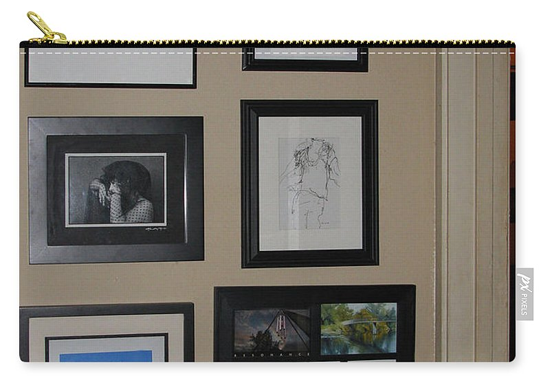 None Carry-all Pouch featuring the photograph small Wall of Framed by Peter Piatt