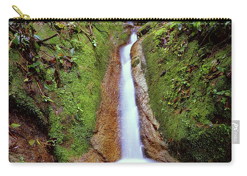 South America Carry-all Pouch featuring the photograph Small Waterfall In Tropical Rain Forest by Fstoplight