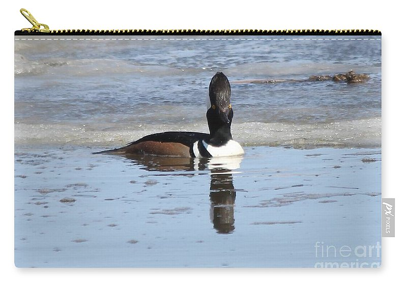 Hodded Carry-all Pouch featuring the photograph Smile For The Camera by Lori Tordsen