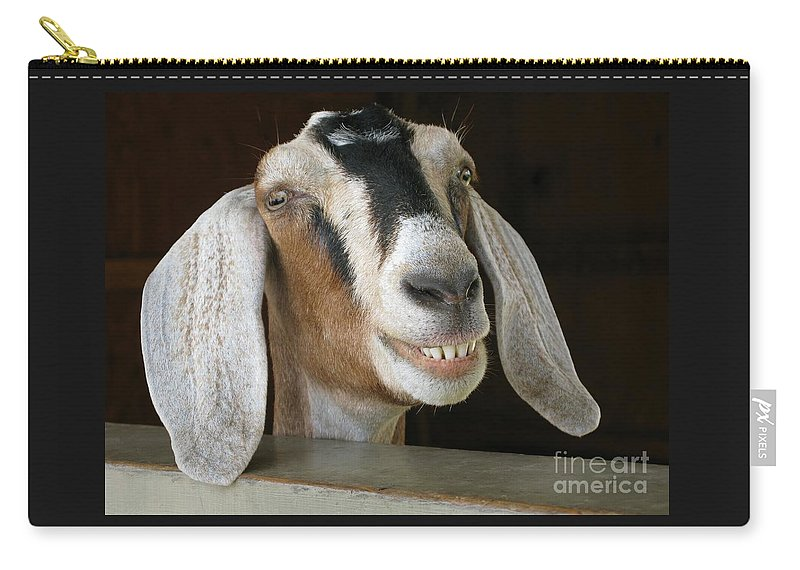 Goat Carry-all Pouch featuring the photograph Smile Pretty by Ann Horn