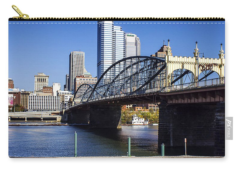 Smithfield Street Bridge Carry-all Pouch featuring the photograph Smithfield Street Bridge by Michelle Joseph-Long