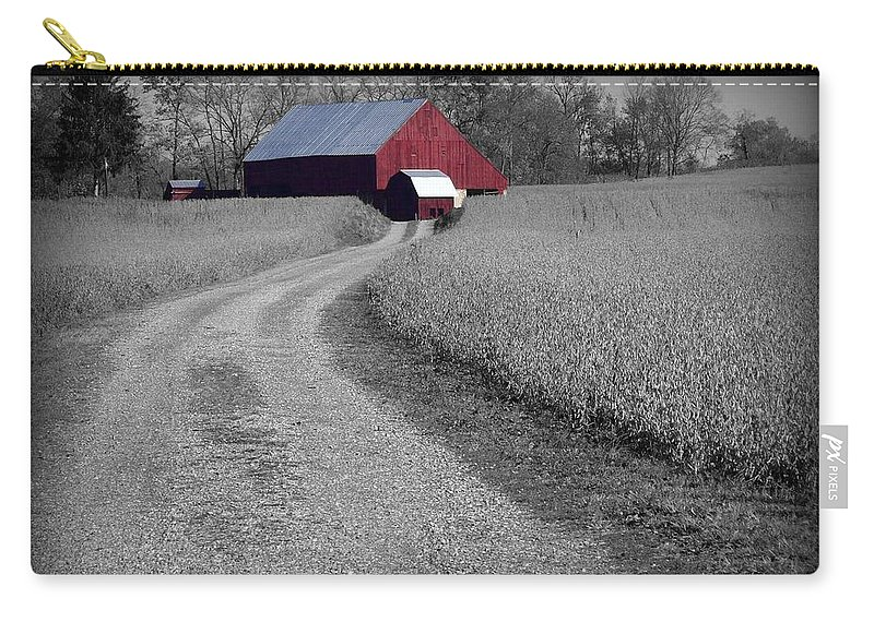 Red Carry-all Pouch featuring the photograph Smithsburg Barn by Robert Geary