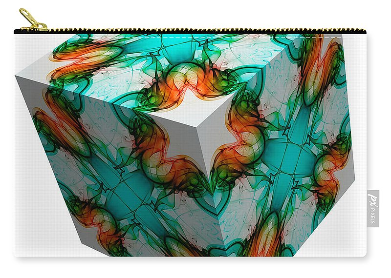 Smoking Trails Carry-all Pouch featuring the photograph Smoke 3d 1 by Steve Purnell