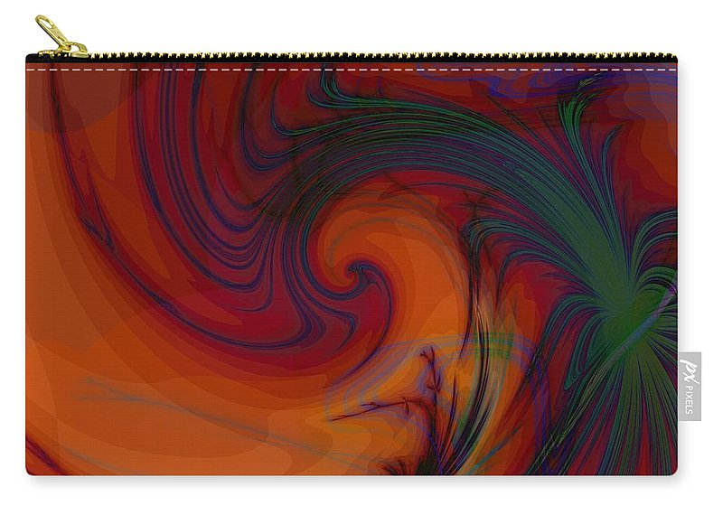 Smoke Carry-all Pouch featuring the digital art Smoke And Feathers by Elizabeth McTaggart