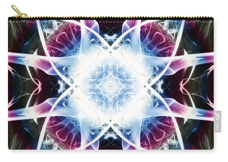 Smoking Trails Carry-all Pouch featuring the photograph Smoke Art 55 by Steve Purnell