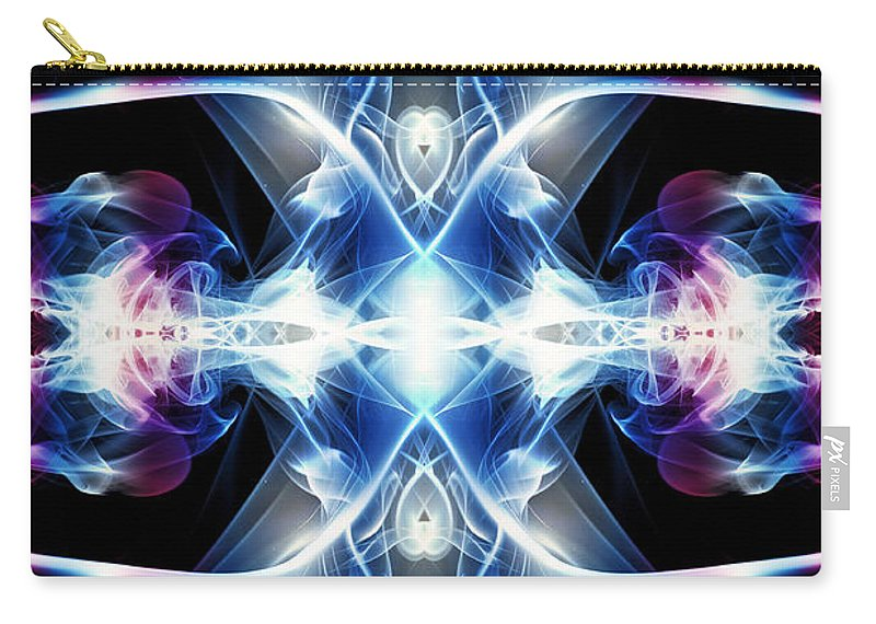 Smoking Trails Carry-all Pouch featuring the photograph Smoke Art 84 by Steve Purnell