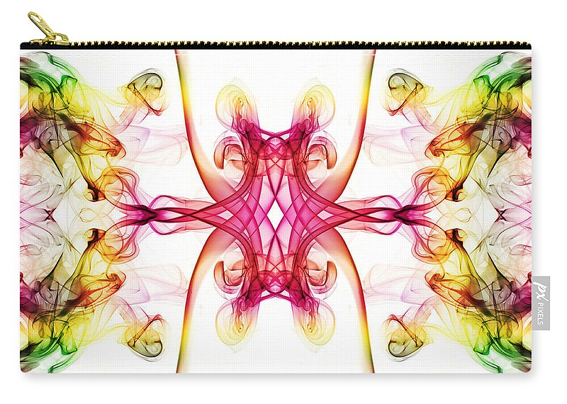 Smoking Trails Carry-all Pouch featuring the photograph Smoke Art 89 by Steve Purnell