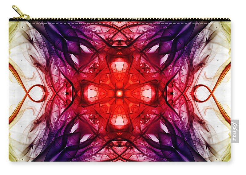 Smoking Trails Carry-all Pouch featuring the photograph Smoke Art 91 by Steve Purnell
