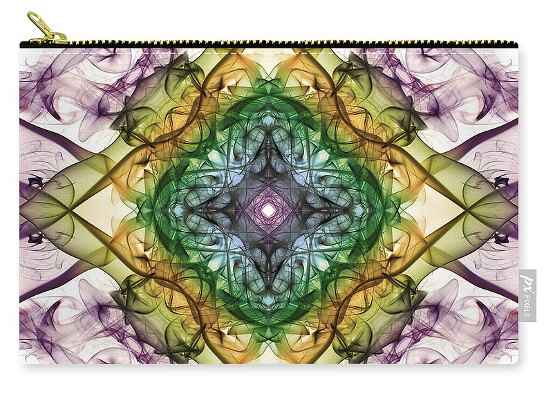 Smoking Trails Carry-all Pouch featuring the photograph Smoke Art 92 by Steve Purnell
