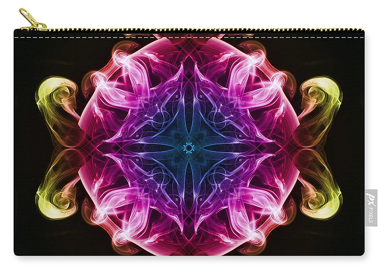 Smoking Trails Carry-all Pouch featuring the photograph Smoke Art 98 by Steve Purnell