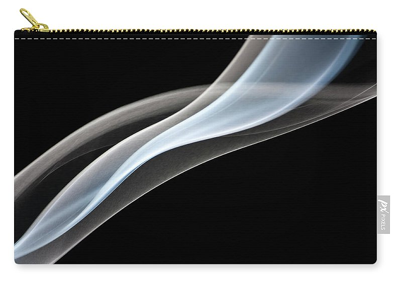 Curve Carry-all Pouch featuring the photograph Smoke, Creative Abstract Vitality by Tttuna