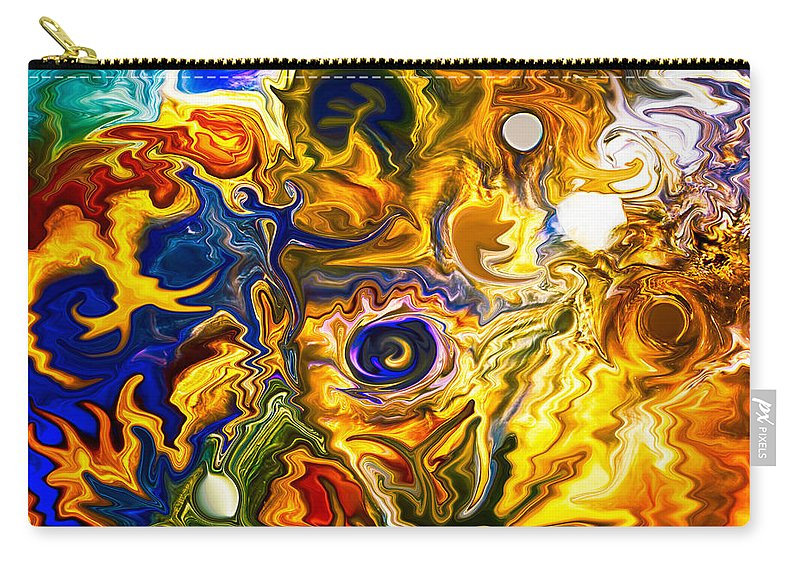 Blue Carry-all Pouch featuring the painting Smoke On The Water by Omaste Witkowski