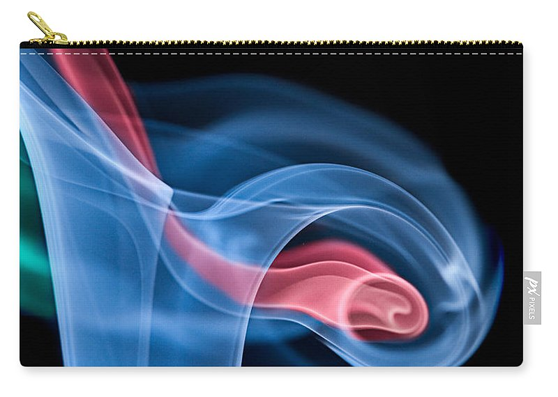 Smoke Carry-all Pouch featuring the photograph Smoke Trails by Susan Candelario