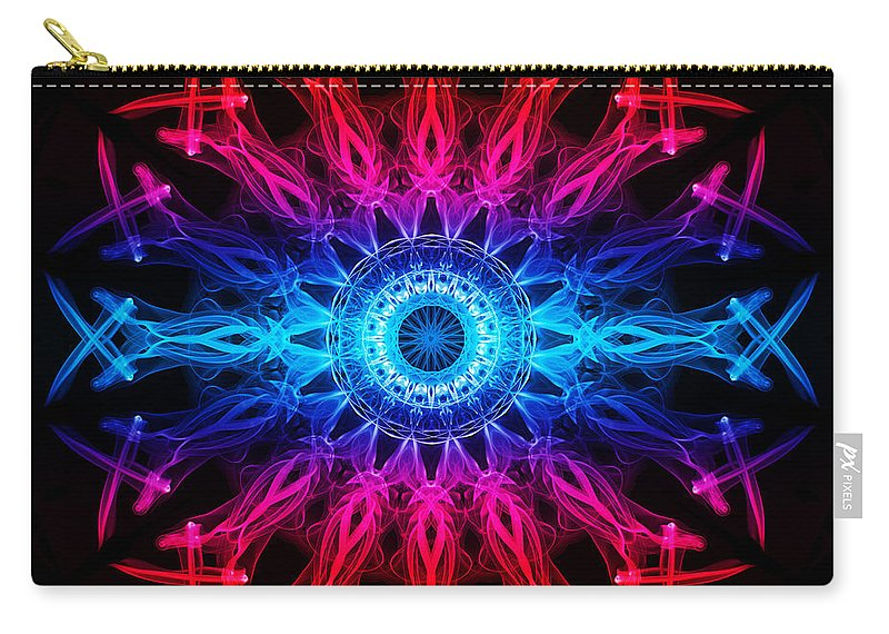 Smoking Trails Carry-all Pouch featuring the photograph Smoke Wheel 3 by Steve Purnell