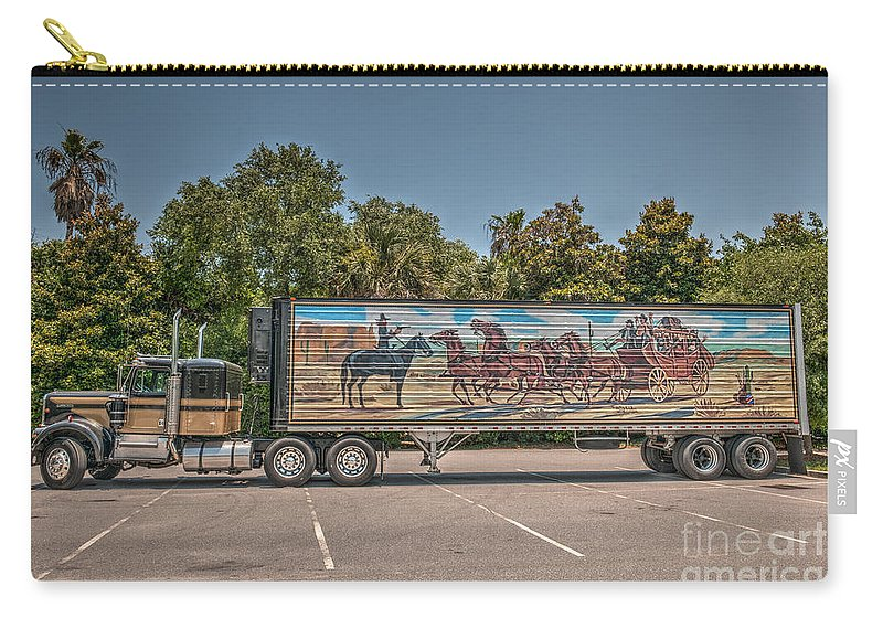 Snowman Carry-all Pouch featuring the photograph Smokey And The Bandit by Dale Powell