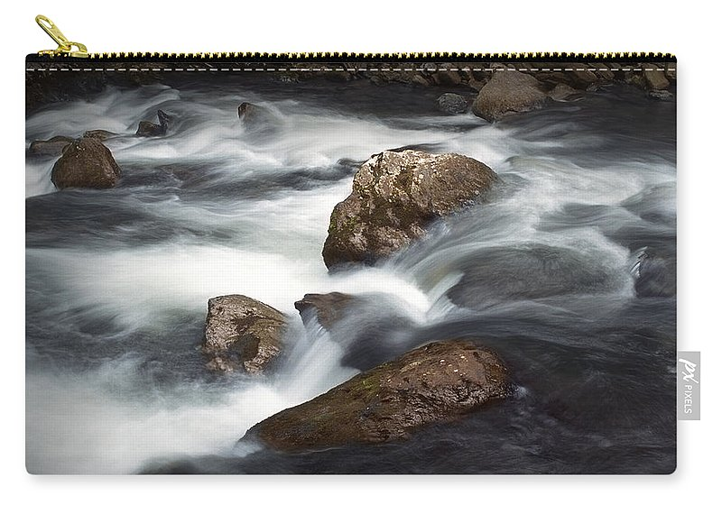 Art Carry-all Pouch featuring the photograph Smokey Mountain Stream In Autumn No.11 by Randall Nyhof