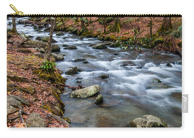Little Pigeon Carry-all Pouch featuring the photograph Smokey Mountain Stream by Randy Walton