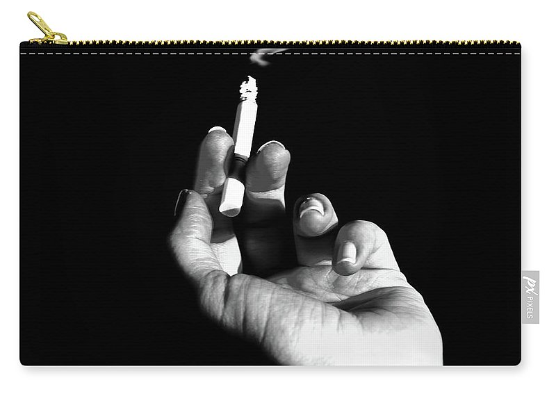 Smoke Carry-all Pouch featuring the photograph Smokin' by La Dolce Vita