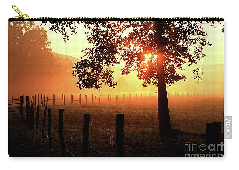 Sunrise Carry-all Pouch featuring the photograph Smoky Mountain Sunrise by Douglas Stucky