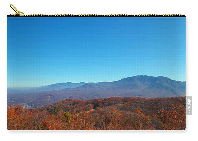 Fall Carry-all Pouch featuring the photograph Smoky Mountains 2 by Nancy L Marshall