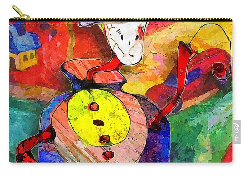 Graphics Carry-all Pouch featuring the digital art Snail 0372 Marucii by Marek Lutek