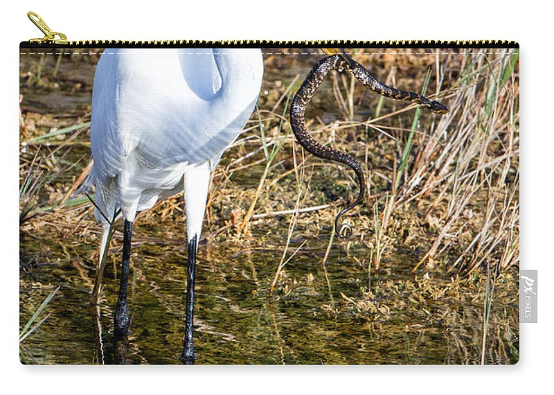 Great Carry-all Pouch featuring the photograph Snake For Lunch by Ronald Lutz