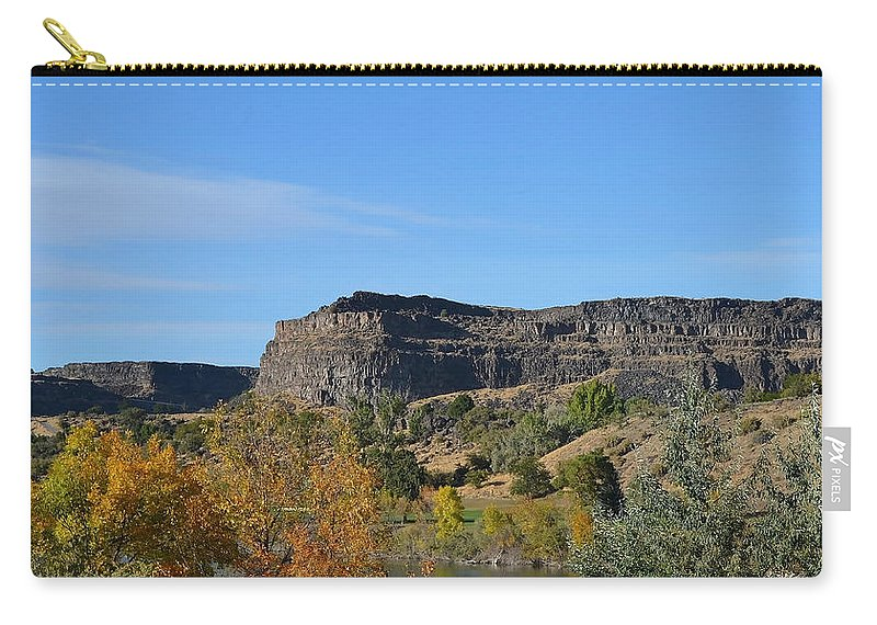 Snake River Carry-all Pouch featuring the photograph Snake River Canyon At Twin Falls by Shanna Hyatt