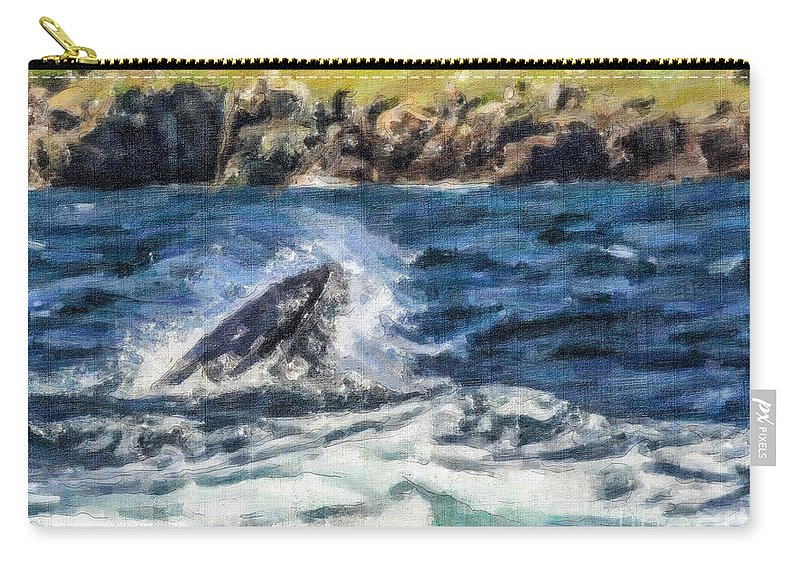 Humpback Whale Carry-all Pouch featuring the photograph Snapshut by Liz Leyden