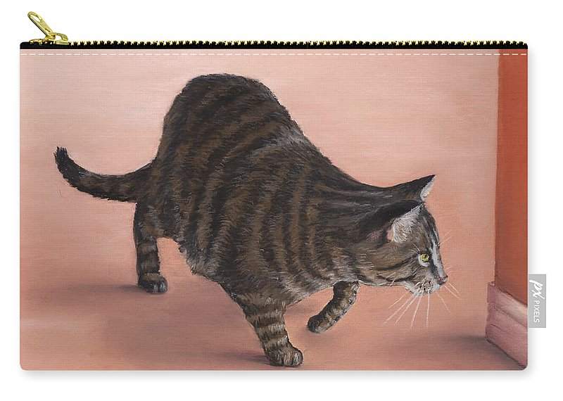 Malakhova Carry-all Pouch featuring the painting Sneaky by Anastasiya Malakhova