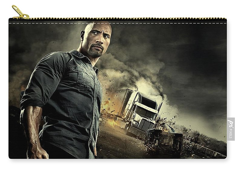 Snitch Carry-all Pouch featuring the photograph Snitch Dwayne Johnson by Movie Poster Prints