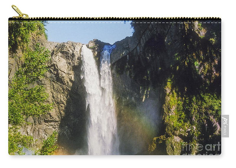 Snoqualime Falls Carry-all Pouch featuring the photograph Snoqualime Falls by Bob Phillips