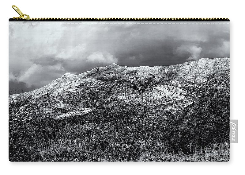 2010 Carry-all Pouch featuring the photograph Snow Capped 45 by Mark Myhaver