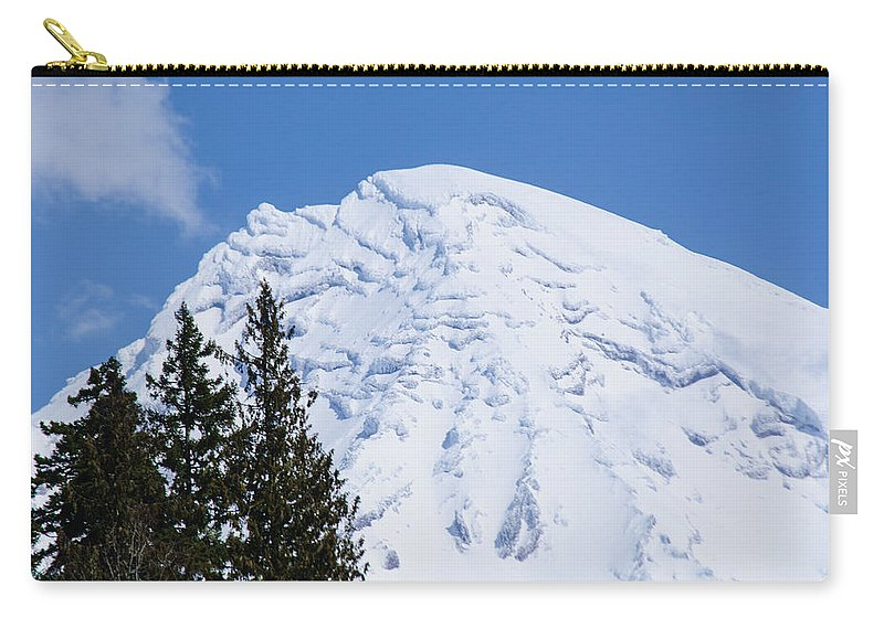 Snowcone Carry-all Pouch featuring the photograph Snow Cone Mountain Top by Tikvah's Hope