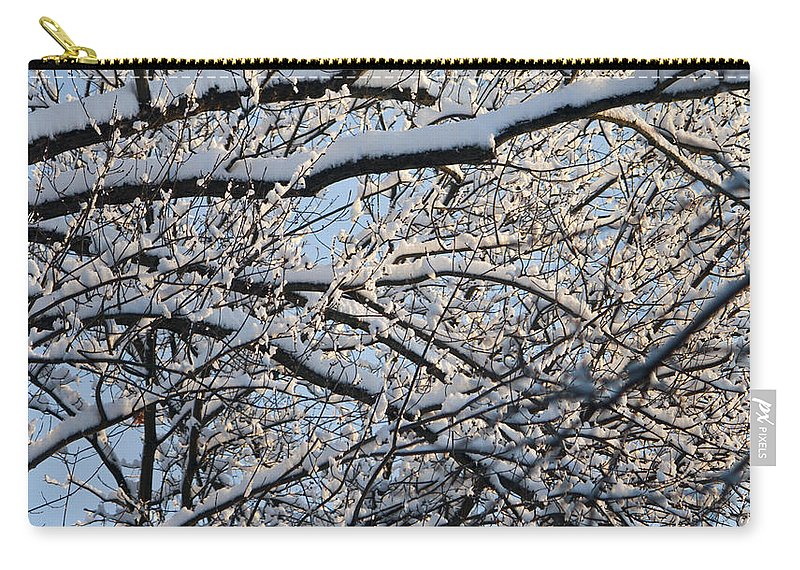 Snow Carry-all Pouch featuring the photograph Snow Covered Branches 2 by Teresa Mucha