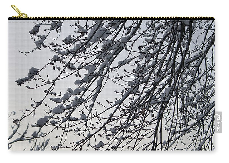 Snow Carry-all Pouch featuring the photograph Snow Covered Branches by Teresa Mucha