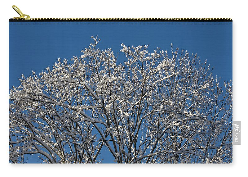 Keith Mucha Carry-all Pouch featuring the photograph Snow Fan by Teresa Mucha