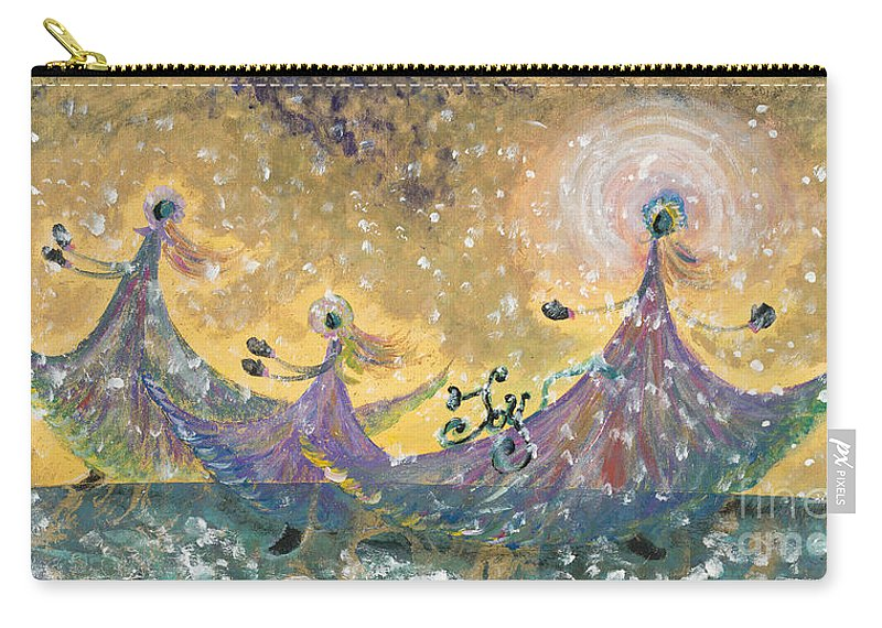 Joy Carry-all Pouch featuring the painting Snow Joy by Nadine Rippelmeyer