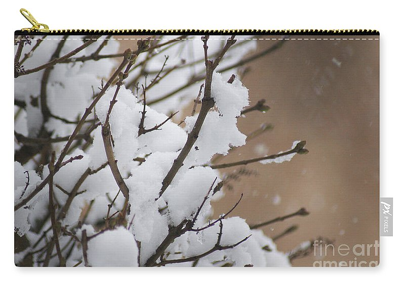 Snow Carry-all Pouch featuring the photograph Snow Shower by Carol Lynch