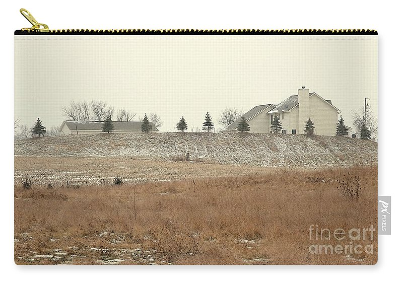 Winter Carry-all Pouch featuring the photograph Snow-showered by Ann Horn