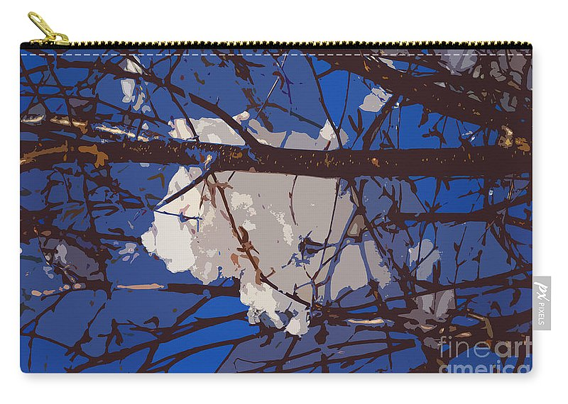 Snowball Carry-all Pouch featuring the digital art Snowball by Carol Lynch