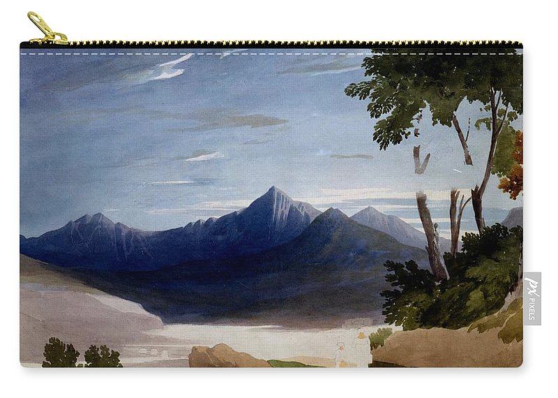 Snowdon Carry-all Pouch featuring the drawing Snowdon by John Varley