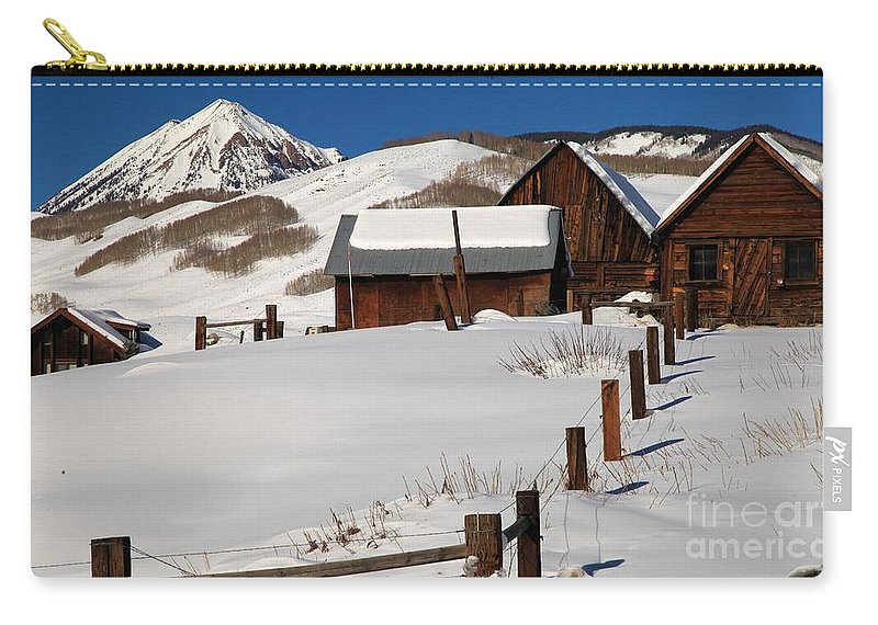 Old Barns Carry-all Pouch featuring the photograph Snowed In by Adam Jewell