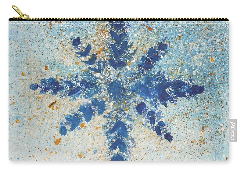 Watercolor Carry-all Pouch featuring the painting Snowflake by Kimberly Maxwell Grantier